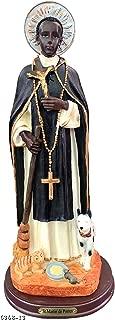 Saint Martin of Porres Statue Holy Figurine Religious Decoration 12