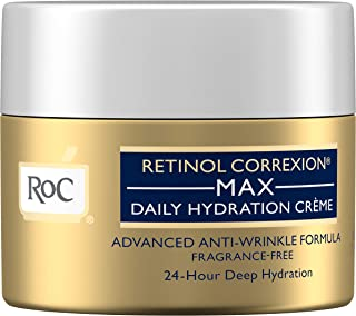 RoC Retinol Correxion Anti-Aging Crème for 24-Hour Deep Hydration, Advanced Anti-Wrinkle Moisturizer Made with Retinol & Hyaluronic Acid 1.7 oz