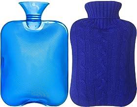 آستین کلاسیک لاستیک شفاف بطری آب گرم 2 لیتر با کت و شلوار - آبی