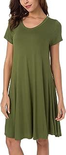 Women's Short Sleeve Loose Swing T-Shirt Dress