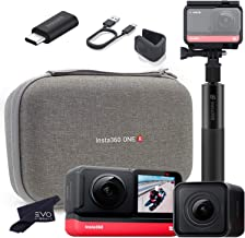 $442 » Insta360 ONE R Twin Edition - Super 5.7K Dual-Lens 360 Camera + 4K Wide Angle Mod 60FPS | Bundle Includes Carry Case, Audi...