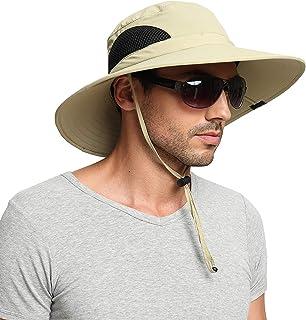 EINSKEY Sun Hat for Men/Women, Summer Outdoor Sun Protection Wide Brim Bucket Hat Waterproof Breathable Packable Boonie Ha...