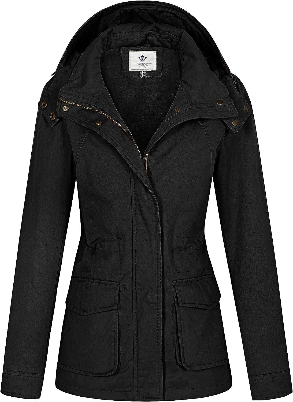 WenVen Women's Anork Military Style Jacket Lightweight Safari Casual Coat