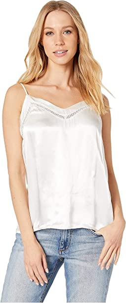Soft Satin V-Neck Cami with Fagoting