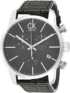 Calvin Klein Mens Quartz Watch, Chronograph Display and Leather Strap K2G271C3-