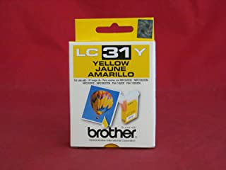 Brother LC31Y Yellow Ink Cartridge - Retail Packaging