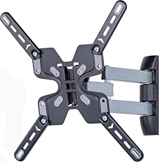 Amazon Basics Triple Arm, Full Motion TV Wall Mount for 32-70 inch TVs up to 55 lbs