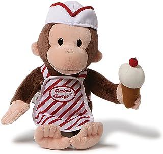 "GUND Curious George with Ice Cream Stuffed Animal Toy, 13"""