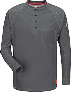 Men's Big and Tall Iq Series Long Sleeve Comfort Knit Henley