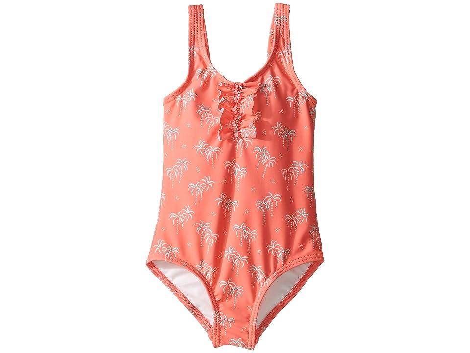 Roxy Kids Palmy Tiny One-Piece (Toddler/Little Kids/Big Kids) (Sugar Coral/Palm Tiny) Girl