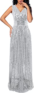 NeeMee Women`s Sequin Bridesmaid Dress Prom Banquet Evening Formal Dresses