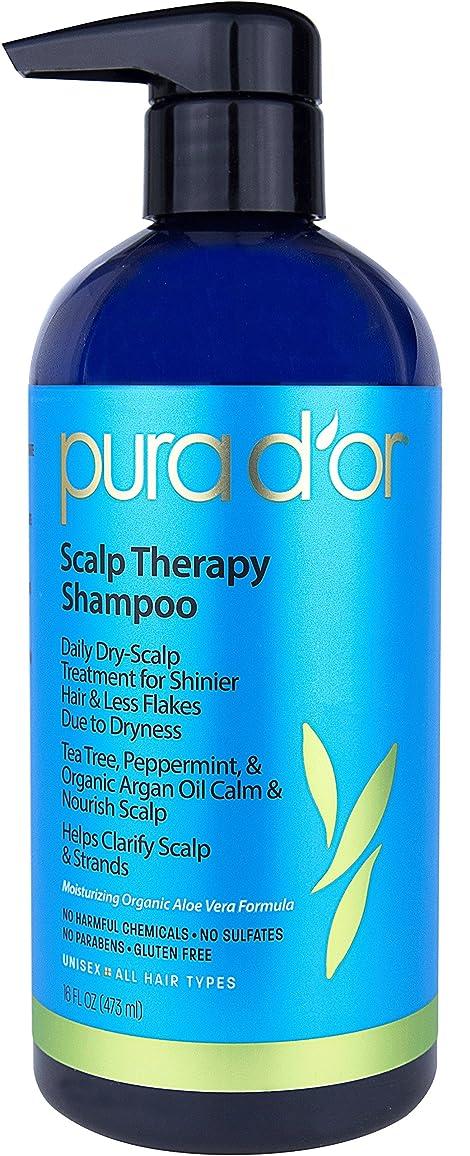 シュガー圧縮された裏切り者Pura D'or Premium Organic Solution - Scalp Therapy Shampoo - 16 fl oz (473 ml) プラドール スカルプセラピー シャンプー