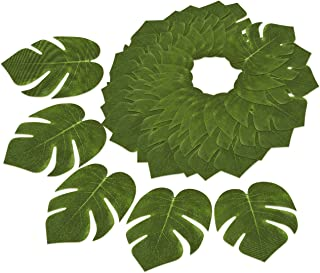 Blue Panda 60-Pack Tropical Artificial Palm Leaves for Party Decorations and Crafts