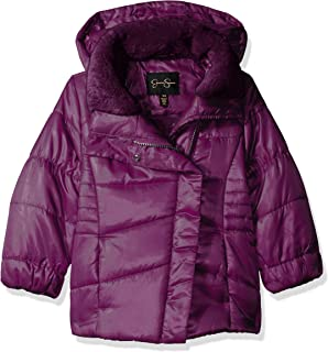 Jessica Simpson Girls' Warm Winter Coat with Asymetrical Closure