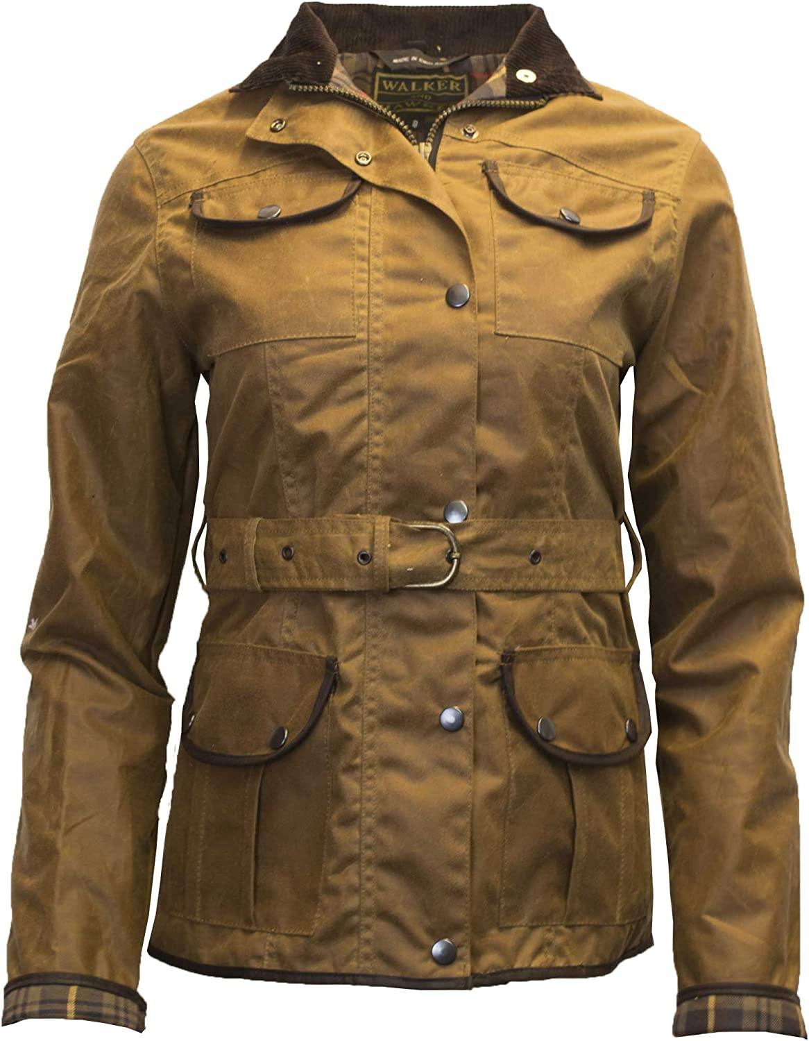 Walker and Hawkes National uniform free shipping Women's Belted Pocket Max 89% OFF Jacket Waxed 4