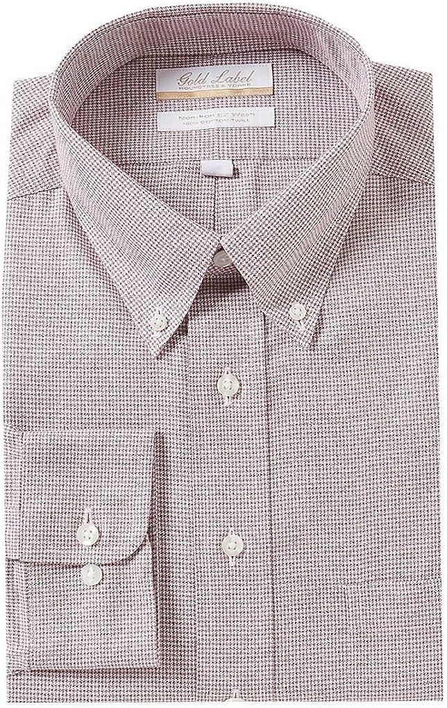 Gold Label Roundtree & Yorke Non-Iron Regular Big Tall Button Down Dress Shirt F75DG027 Burgundy
