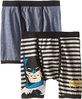 Boys 2 Pack Vintage Batman Boxer Brief Underwear