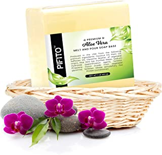 Pifito Aloe Vera Melt and Pour Soap Base (2 lb) │ Premium 100% Natural Glycerin Soap Base │ Luxurious Soap Making Supplies