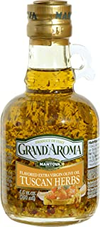 Grand'aroma Tuscan Herbs Extra Virgin Olive Oil Flavored, 8.5-Ounce Bottles (Pack of 3)