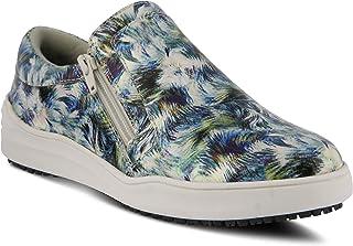 Spring Step Flexus Womens Leather Slip-On Uniform Shoe WAEVO-Choppers US Size 8 Silver