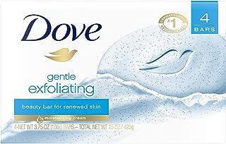 Dove Beauty Bar for Softer Skin Gentle Exfoliating More Moisturizing Than Bar Soap 4 oz 4 Bars