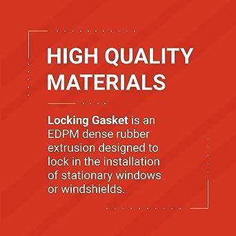 "Trim-Lok EPDM Dense Rubber Window Locking Gasket Fits 1//4"" Glass and 1//8"" P..."