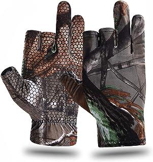 EAmber Camouflage Hunting Gloves Fingerless Gloves Pro...