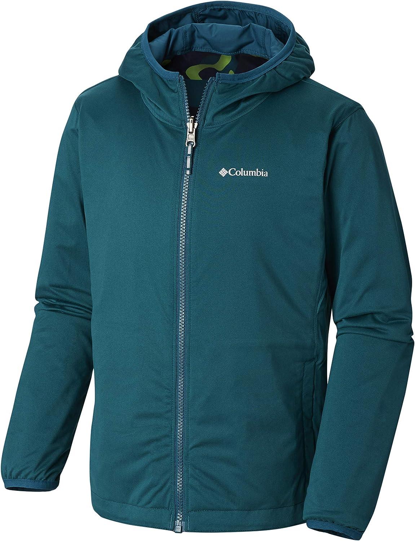 Lightweight Columbia Youth Unisex Pixel Grabber Reversible Jacket Water Resistant