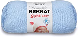 Bernat Softee Baby Yarn, 5 oz, Pale Blue, 1 Ball