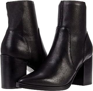حذاء كاحل Steve Madden Calabria للنساء، جلد أسود، 6