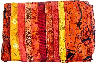 """Women Silk Sari Scarf Neck Wraps 10 X 70"""" Inches"""