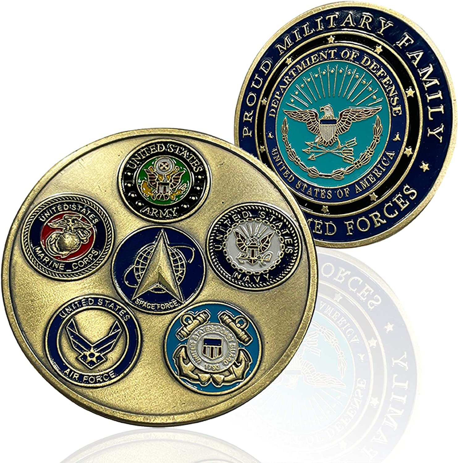 Proud Military Discount mail order Space Force Challenge Coin All - Services Japan's largest assortment Militar