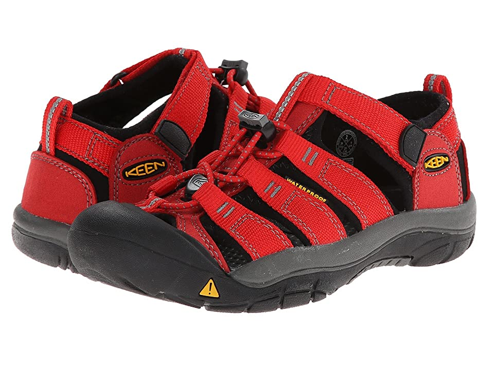 Keen Kids Newport H2 (Little Kid/Big Kid) (Ribbon Red/Gargoyle) Kids Shoes
