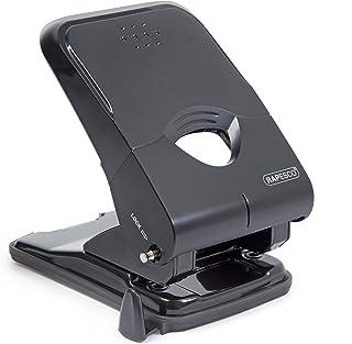 Rapesco 1233 X5-50Ps Less Effort Heavy Duty Hole Punch (50 Sheets) Black