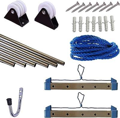 Plantex High Grade Cloth Drying Rack/Ceiling Cloth Rack/Cloth Stands for Drying Clothes(5 feet/5 Pipe)