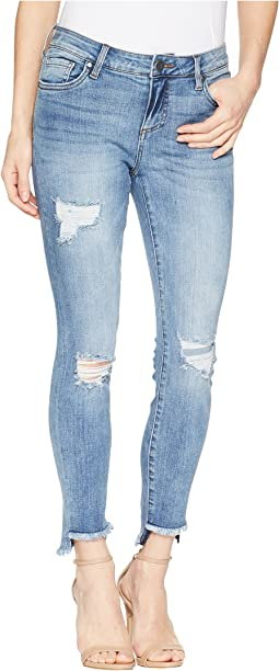 Connie Ankle Skinny w/ Step Fray Hem in Loveliness