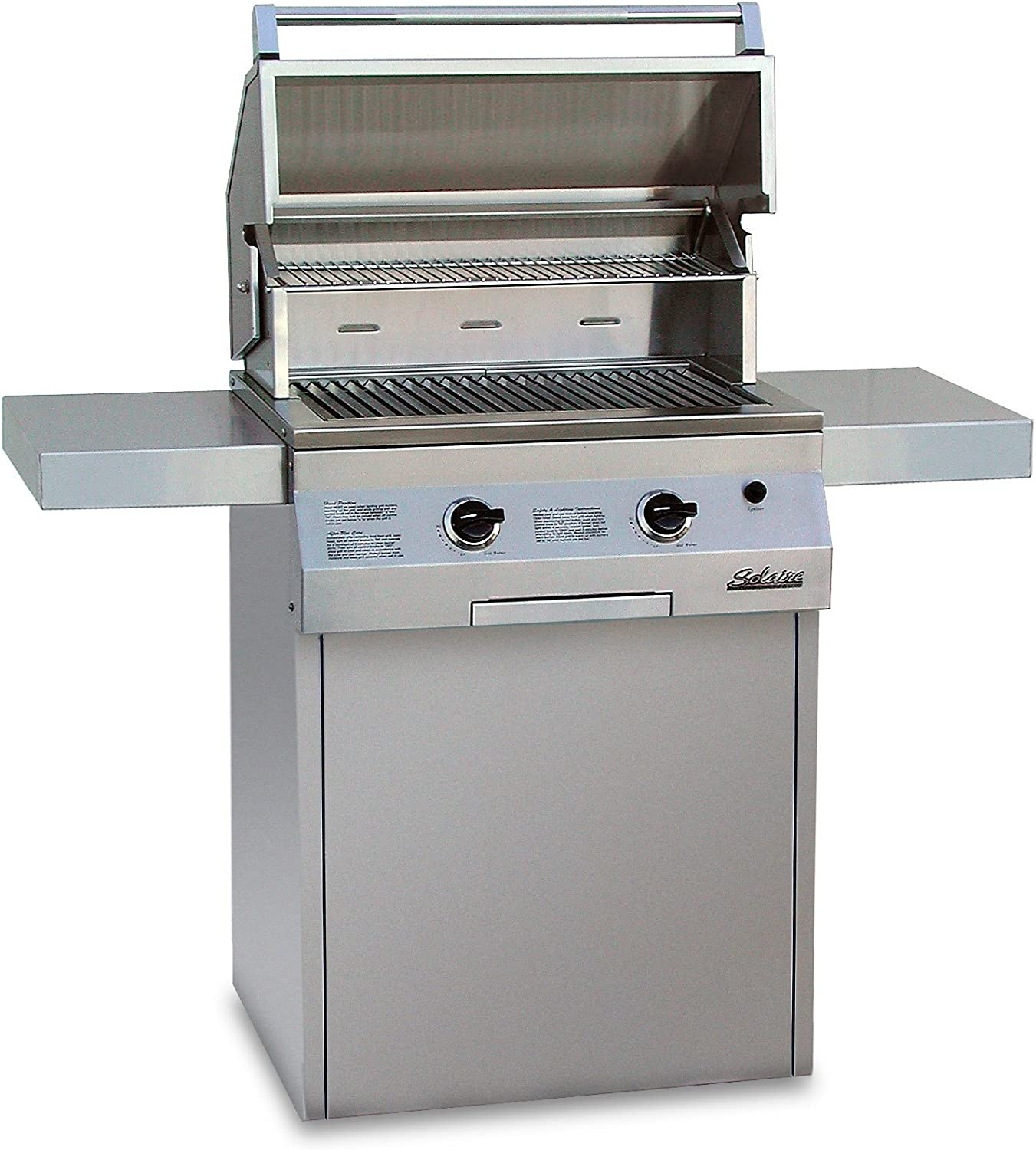 Solaire 27-Inch Deluxe Infrared Natural Seasonal Wrap Popular Introduction on Grill Gas Square Cart