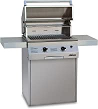 Solaire 27-Inch Deluxe Infrared Propane Grill on Square Cart, Stainless Steel