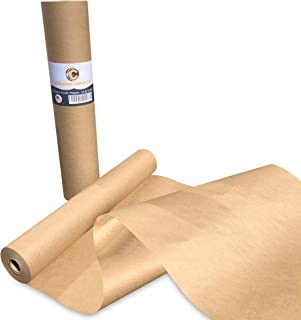 """Made in USA Brown Kraft Paper Jumbo Roll 17.75"""" x 1200"""" (100ft) Ideal for Gift Wrapping, Art, Craft, Postal, Packing, Ship..."""