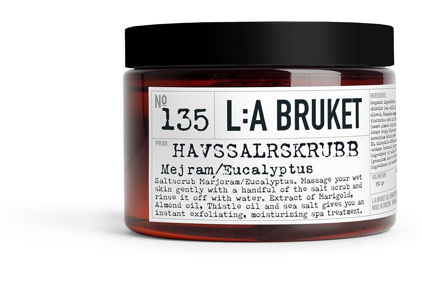 剃るランプオーブンL:a Bruket (ラ ブルケット) シーソルトボディスクラブ (マジョラム?ユーカリ) 420g