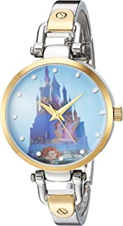 DISNEY Women's Princess Analog-Quartz Watch with Alloy Strap, Two Tone, 8 (Model: WDS000071)