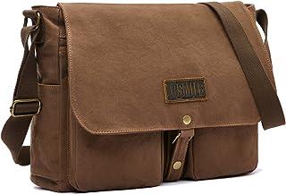 LOSMILE Herren Schultertasche,Leinwand Umhängetaschen,Canvas 15.6 Laptop Tasche,Schulranzen, für Schule und Arbeits. Große Größe.