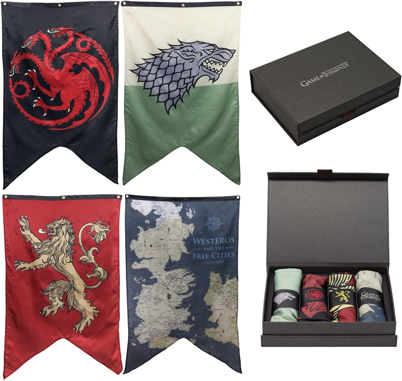 Game of Thrones House Sigils & Westeros Map Wall Banner