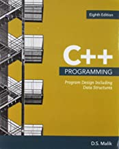 Bundle: C++ Programming: Program Design Including Data Structures, Loose-leaf Version, 8th + MindTap Computer Science, 1 term (6 months) Printed Access Card