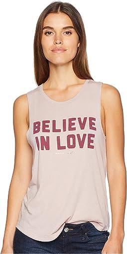 Believe Love Muscle Tank Top