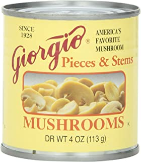 Giorgio Mushrooms Pieces and Stem, 4 Ounce, 12 Count