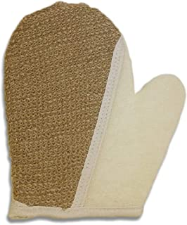 100% Natural Exfoliating Hemp Glove Mitt Mitten - Bath Sponge Scrubber Remove Dead Skin - Deep Clean & Invigorate Your Skin