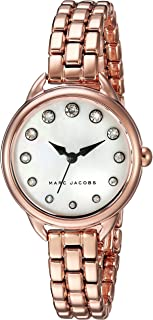 Marc Jacobs Betty Women's Mother Of Pearl Dial Stainless Steel Band Watch - Mj3511, Analog Display