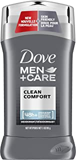 Dove Men+Care Deodorant Stick, Clean Comfort 3 Ounce (Pack of 2) (Packaging may vary)