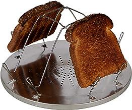 قدر خبز المعسكر قابل للطي ، فضي